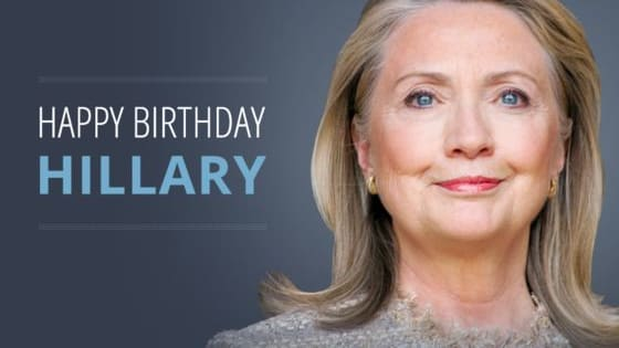 The Democratic Nominee for President turns 69 Today!