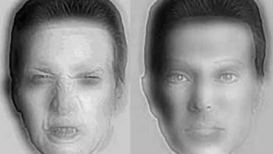This Optical Illusion will blow your mind. Do you see the angry man on the left and the calm man on the right? Check out this amazing transformation.