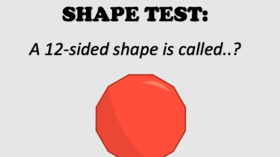 How many shapes can you name?