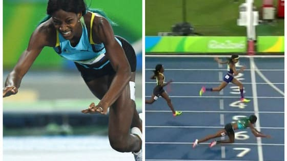 When the women's 400 meter sprint was neck and neck, Bahamian Shaunae Miller dove over the finish line to take home the gold medal. Some people are stunned by her prowess while some are calling foul play. What do you think?