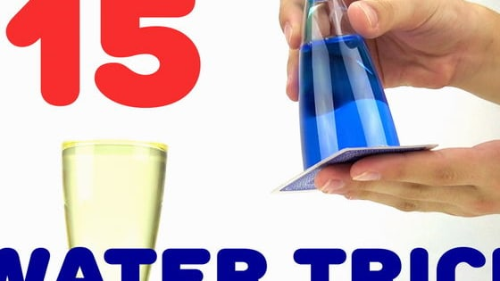 15 Amazing & Simple Science Experiments and Tricks that You Can Do At Home with Water  for kids and adults You Can Do at Home.