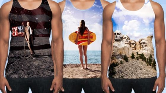 Out of this world, photo-realistic, tanks for the beach, BBQs, and everywhere in between.  All tanks are available at VibeTanks.com