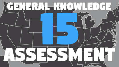 Can you answer 15 questions crafted from the latest USA General Knowledge Assessment? A perfect score places you above 95% of the American population!
