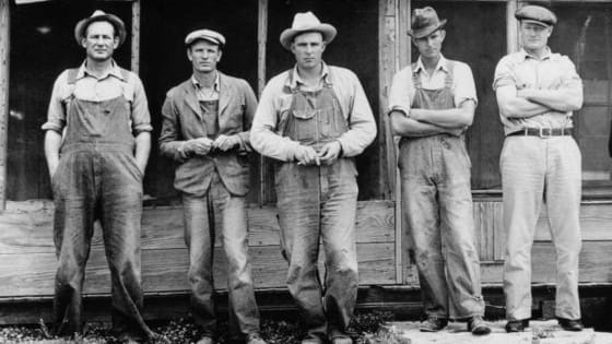 The Great Depression hit displaced workers hard.