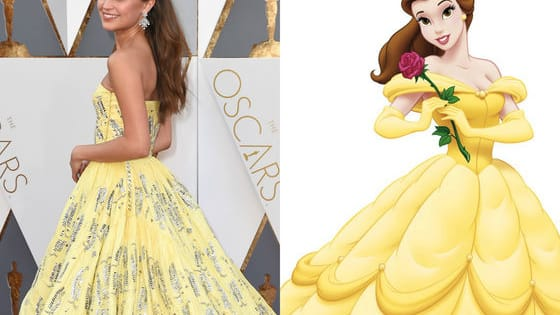 Did Alicia or Disney's Belle rock the yellow gown better???