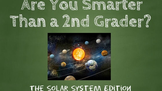 Do you remember studying the Solar System back in school? These questions are straight from the textbook. Are You Smarter Than a 2nd Grader? Please take the challenge and Like our page. http://www.facebook.com/NamethePlayer