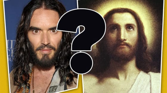 The comedian reckons he's the messiah. But unlike the big man himself, he's not the son of God. See if you can tell what words of wisdom have come from up above, and what old Russ dreamed up to make a few bob.