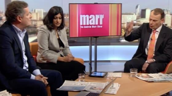 On BBC1's Andrew Marr Show.