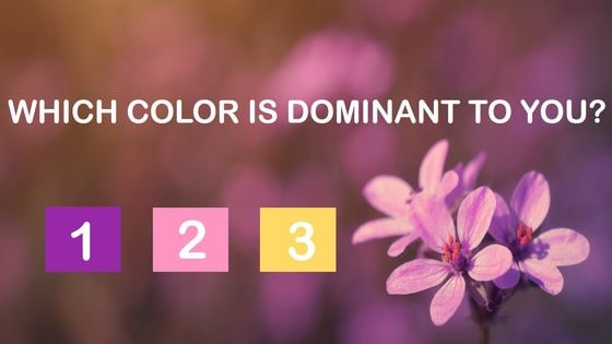 According to a scientific color test, every person has one color which dominates his vision.  What does this dominant color say about your spiritual color?