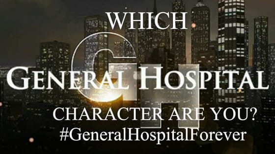 Take this short quiz to see which General Hospital character you are most like. Brought to you by your friends at General Hospital Forever Facebook group.  https://www.facebook.com/groups/GeneralHospitalForever/
