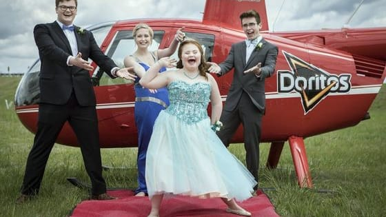 When the chip company found out that Shaedon Wedel had asked his best friend's younger sister with down syndrome to be his prom date using their brand, they decided to lend a helping hand to get the two and their friends to prom in style! Find out more here!