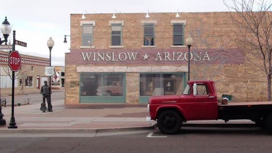 "The late Glenn Frey has been immortalized with a statue on a corner in Winslow, Arizona. A place made famous by the Eagles' classic ""Take it Easy."""
