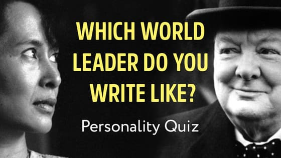 Aspiring to greatness? Find out which world leader your writing personality matches!