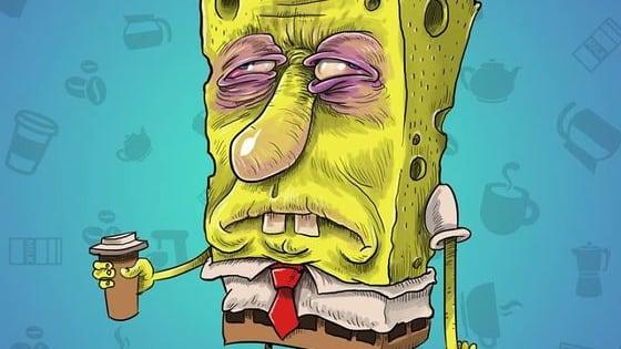 Spongebob hates Monday mornings...