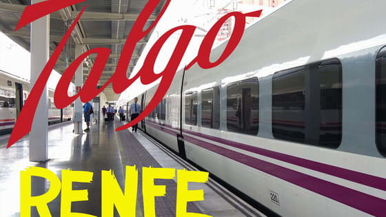 Spanish High Speed Rail Renfe AVE. Traveling by TALGO train from Valencia to Alicante. Tour inside the train.