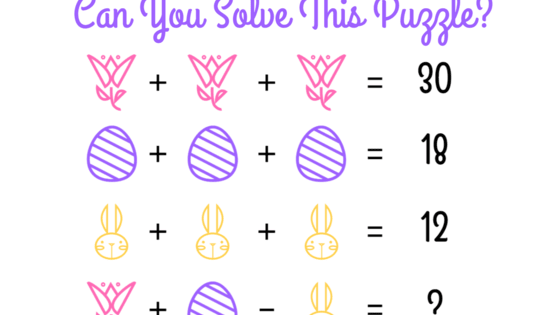These adorable spring puzzles may leave you scratching your head! Can you solve them? Find out here!