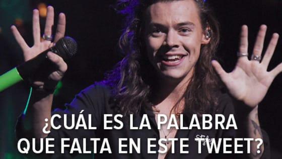 ¿Conoces los tweets de Harry Styles de memoria? Entonces completa el tweet.