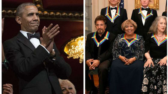 President Obama has attended his final Kennedy Center Honor as president, but the honorees were certainly a great group to end on, and included Al Pacino and James Taylor. Plus, you have to see what Michelle was wearing.