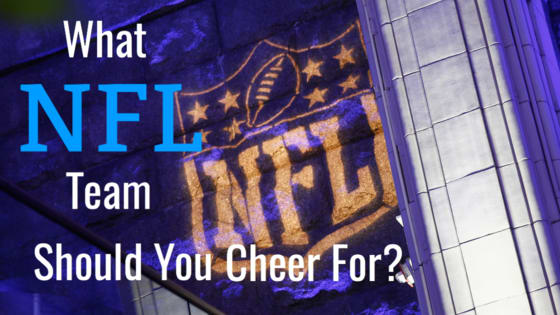 It's football season but perhaps you don't have a team to cheer for. It's hard to be an NFL fan without a team allegiance so it's time for you to pick a side and join the fun. Answer these questions before you tailgate and we'll let you know which team you should be cheering for.