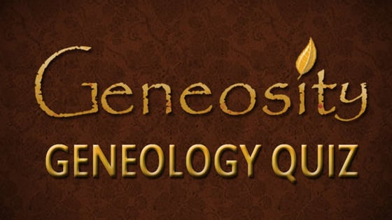 A simple and fun quiz from geneosity.com that tests your knowledge of genealogy and family research.