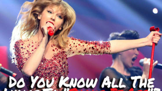 "Find out if you know all the lyrics to Taylor Swift's song ""Shake It Off""!"