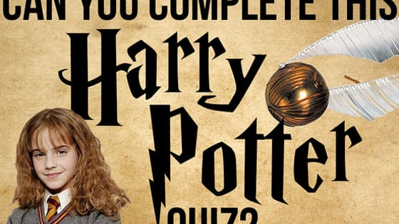 How well do you know the Harry Potter character? Take the quiz and find out!  NO CHEATING!