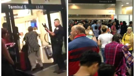 Last night, August 28, reports of an active shooter in LAX fortunately turned out to be false, but this is the second false alarm two weeks, and it's a little scary.