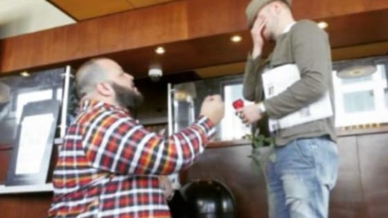 Daniel Franzese popped the question to his long time love Joseph Bradley Phillips
