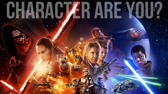 """Which character for """"Star Wars: The Force Awakens"""" is the most like you? Take the quiz to find out, and may the force be with you!"""