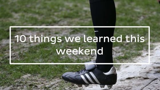 In a Halloween weekend in which Klopp has won his first Premier League game, Boca Juniors won the Apertura title, or Frankfurt found the way to make Bayern Munich struggle, just what did we learn? Here's the 10 things we learned this weekend.