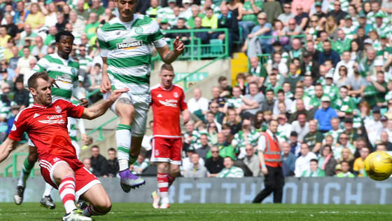 Aberdeen may have failed to stop Celtic winning the league today, but we want to know which Dons player was your Man of the Match