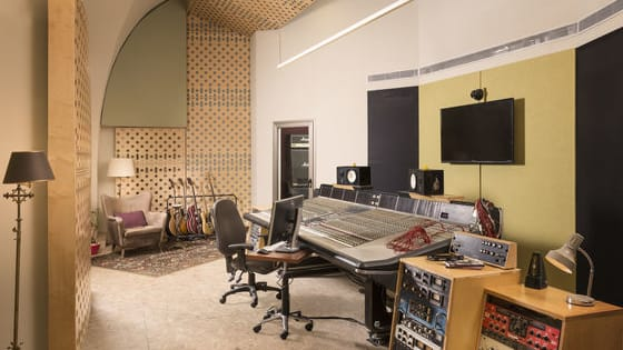 Welcome to the Heart of a Three-Level Complex, Totalling 260 Square Meters, Is a 55 Sqm, High-Ceiling Control Room Housing a 48-Channel Ssl-6000 Analog Console, ATC 200 Studio Monitors and a Classic Collection of High-End Professional Audio Gear