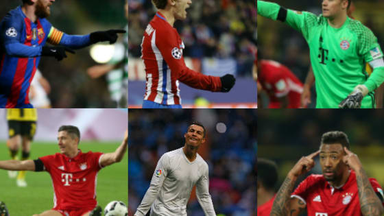 Six simple questions. One straight answer. Which of the world's top players do you most resemble? Is your spiritual animal a Manuel Neuer? Or is there a little Diego Godin inside you? Take our quick test and find out…