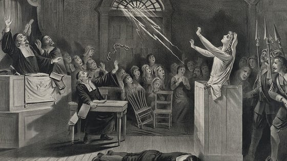 The Salem witch trials remain the most widely recognized episode of mass hysteria in history. Between 1692 and 1693, more than 200 people in colonial Massachusetts were accused of practicing the Devil's magic. By the time the hysteria subsided, 24 people had died. Nineteen were hanged on Gallows Hill in Salem Town, but some perished in prison. Would you have been one of them? Take our quiz and find out.
