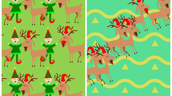 Rudolph's nose really makes him stand out in the crowd, but Santa is kind of nearsighted! Can you help find the red-nosed reindeer in each of these pictures?