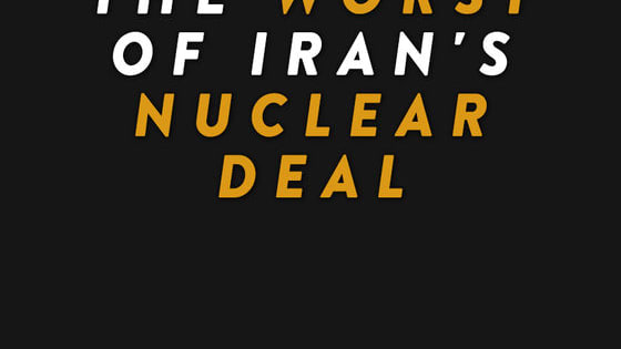 The Obama Administration is determined to make a deal with Iran, no matter what the consequences. Vote here for what you believe is the WORST part of Iran's Nuclear Deal.