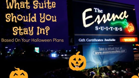 Based on your Halloween plans, which suite should you stay in at Essence Suites?