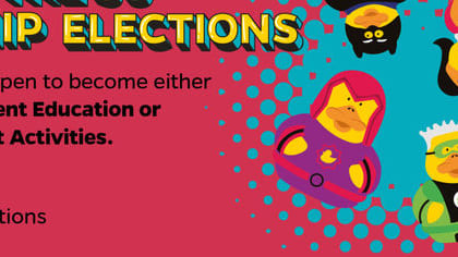 Nominations are NOW OPEN for the SU Leadership Elections. What better time to find out which of our full time officer roles is best suited towards you?!  For more information about the elections, or to submit your nomination, head to www.worcsu.com/elections. #DontDuckOut #AnyoneCanBeAHero