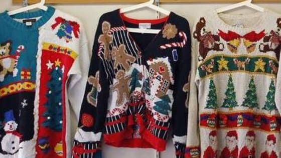How many ugly elements does your Christmas sweater have? View our list and check the bottom for your results.
