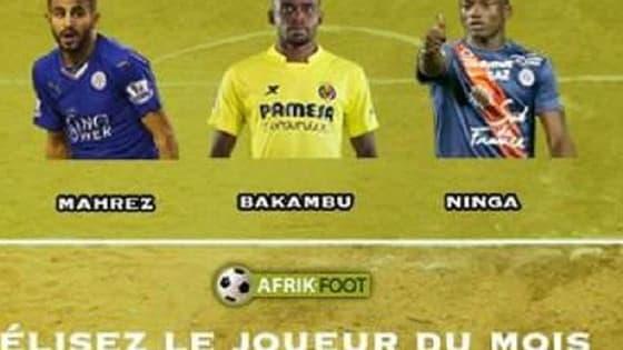 Votez pour le joueur Afrik-Foot du mois de décembre 2015.