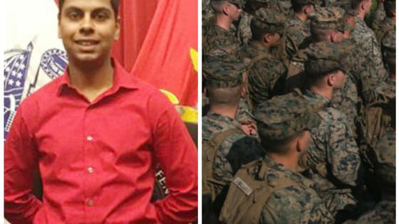 Raheel Saddiqui had only been a Marines trainee for two weeks before jumping over a third story railing to his death. Now, several officers have been suspended, fired, or charged as part of his death due to hazing.