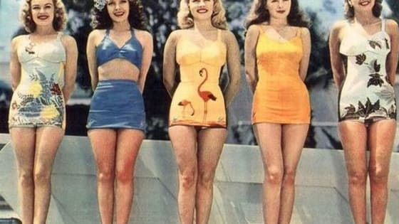 Ladies swimwear has evolved quite a bit over the years, from sailor suits to tine weenie bikinis, here is the evolution of the classic bathing suit from 1910 to present day!