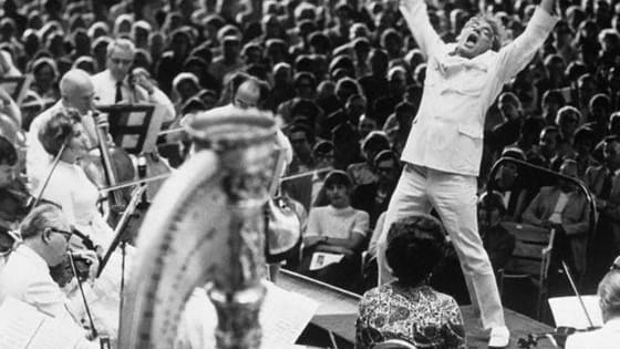 To many, Leonard Bernstein was and always will be the great American conductor. To commemorate this modern master, we're looking back at some of Bernstein's most performative moments in a postmodern way - gifs!