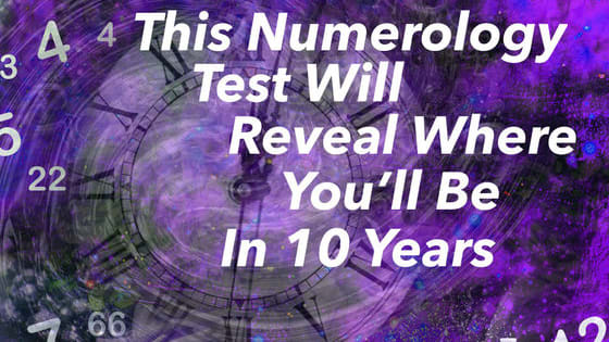 Numbers each hold an energetic signature. They have the power to predict your future and reveal secret powers. Use your intuition and gut reaction to choose your numbers and they will show you where you'll be in 10 years.
