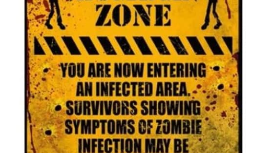 Just imagine, you're doing regular things, when a zombie virus breaks out! Will you be prepared?