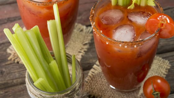There are few cocktails better for brunch than a classic bloody mary. Here's how you can make this savory cocktail with tomato juice, vodka, and some Tabasco sauce. Cheers!