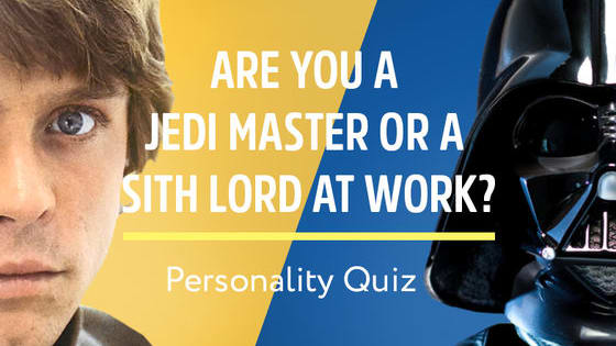 There is a Light and Dark Side to the balance of office life. Which way do you lean? Find out whether you're an Office Jedi or Sith with our fun quiz!
