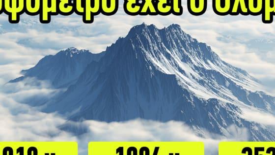 Σε αυτό το τεστ θα δοκιμάσετε τις γνώσεις σας στα ελληνικά βουνά αλλά και ταυτόχρονα θα μάθετε νέα πράγματα για αυτά που αποτελούν ένα τεράστιο κόσμημα της ελληνικής γης.