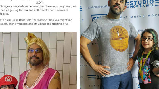 He dressed up and the internet reacted, but this dad got the last word
