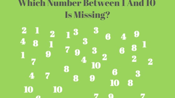 Most people won't, though. Can you read between the lines to find the missing number in each of these images?